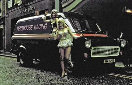 004 1975 Penthouse magazine sponsored a team of racing escorts and naturally chose Transits for support vehicles 427x276