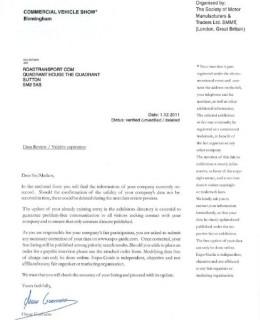 Fake CV Show Letter 260x320